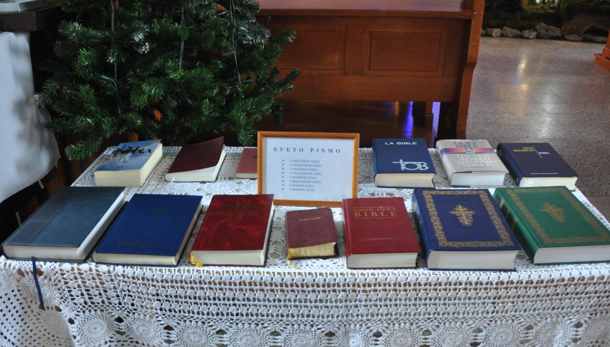 SVETO PISMO V TUJIH JEZIKIH: V ANGLEŠKEM, FRANCOSKEM,  HRVAŠKEM, ITALIJANSKEM, NEMŠKEM, ROMUNSKEM, RUSKEM  IN SRBSKEM JEZIKU